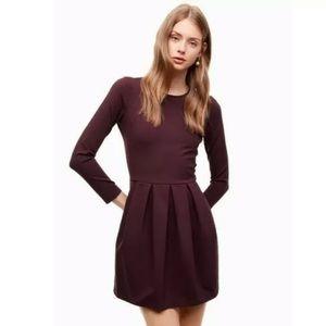ARITZIA TALULA Tartine burgundy size 0 dress